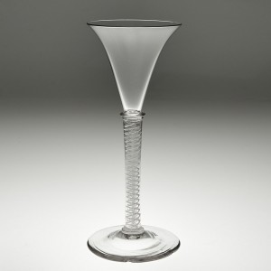 A Tall Opaque Twist Cordial Glass c 1835