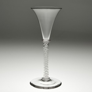 A Tall Opaque Twist Cordial  Or Wine Glass c 1835
