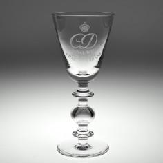 Limited Edition Cumbria Crystal Royal Wedding Glass 1981 No 23/100