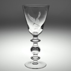 Cumbria Crystal Baluster Goblet Engraved By Tracey Chester 1980