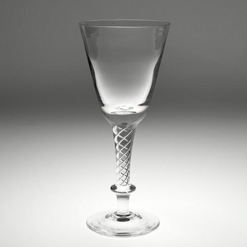Cumbria Crystal Air Twist Goblet c1980