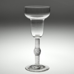A Pan Top Air Twist Wine Glass c1800