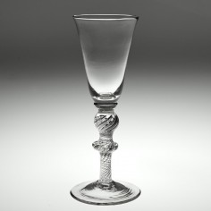 Double Knopped Multi Series Air Twist Wine Glass c1750