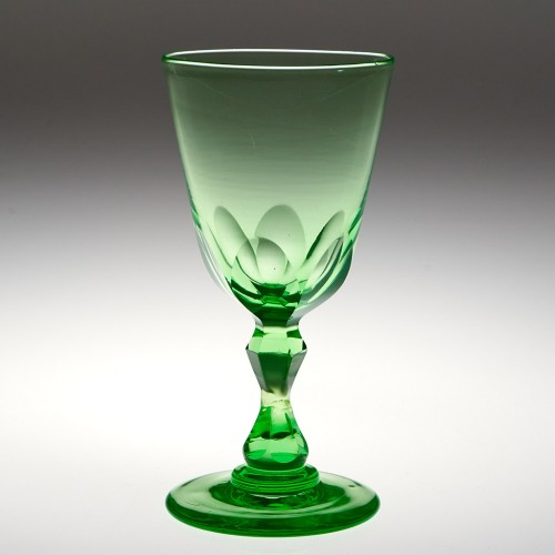 A Victorian Uranium Wine Glass c1880