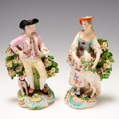 Derby Porcelain Garland Shepherds c1765