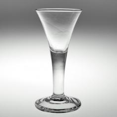 A Substantial Drawn Trumpet Plain Stem Wine Glass c1750