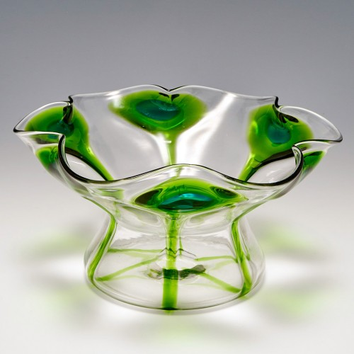 Stuart & Sons For Liberty Bi-colour Peacock Vase c1910