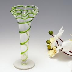 Stuart & Sons Fazzoletto Rim Trumpet Vase c1910