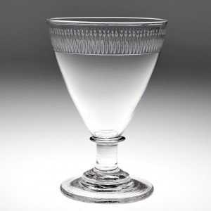 Engraved Georgian Glass Rummer c1810