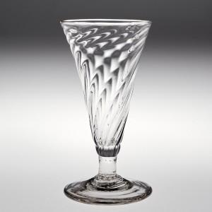 A Wrythen Moulded Ale Glass c1770