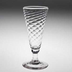 A Wrythen Ale Glass c1770