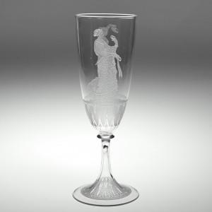 John Northwood Or Stourbridge Glass Co French Ale Glass c1875