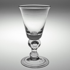 A Baluster Wine Glass c1725