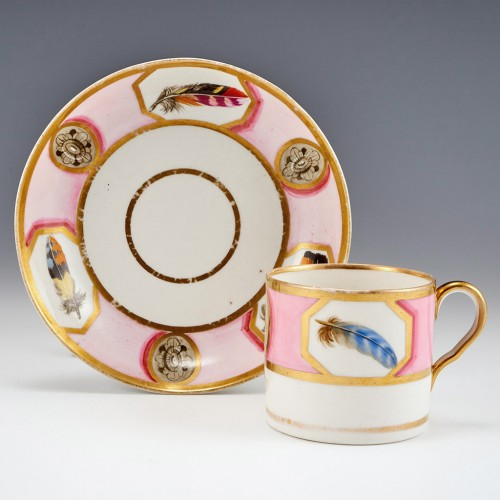 An English Porcelain Coffee Can and Saucer c1810