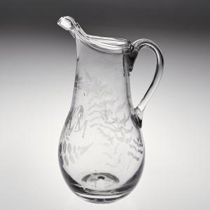 An Engraved Glass Cream Jug c1820