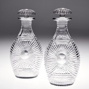 A Pair of 19th Century Decanter Bottles c1830