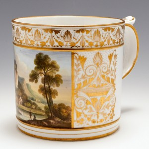 Derby Porcelain View In Cumberland Porter Mug 1825-30
