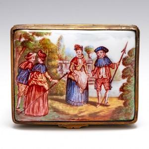 A 19th Century Continental Enamelled Box c1890