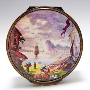Samson Paris Decorated Enamelled Box c1890