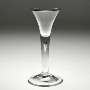 18th Century Plain Stem Wine Glass c1750