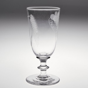 An Engraved Victorian Ale Glass c1880