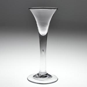 A Fine Georgian Plain Stem Wine Glass c1750