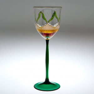 A Theresienthal Floral Wine Glass