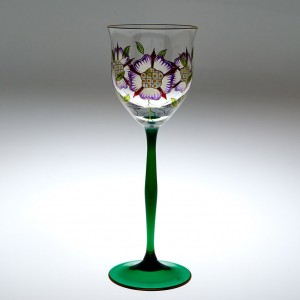 A Theresienthal Flower Wine Glass c1990
