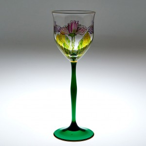 A Theresienthal Flower Wine Glass