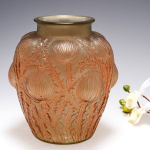 A Fine Rene Lalique Domremy Vase Marcilhac 979