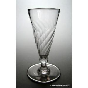 Georgian Wrythen Moulded Ale Glass c1790