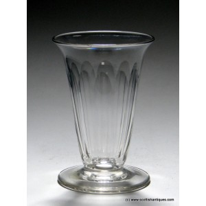 Georgian Slice Cut Jelly Glass c1820