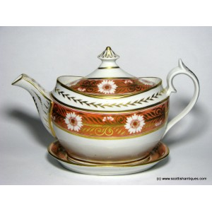 Thomas Rose Coalport Teapot & Stand c1810
