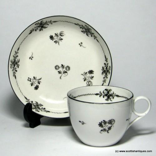 New Hall Porcelain Tea Cup & Saucer c1810
