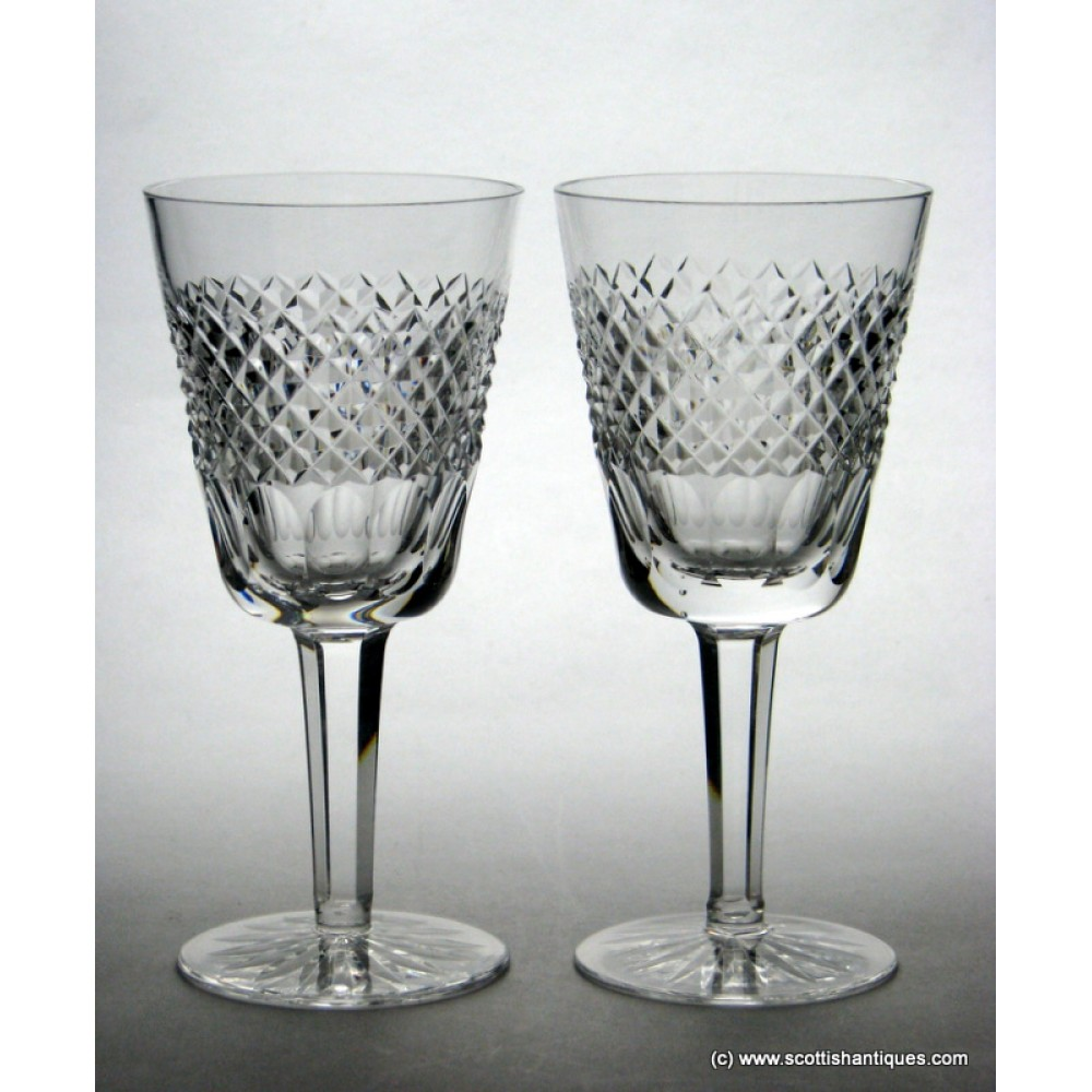 Pair of waterford crystal wine glasses - Wedgwood crystal wine glasses ...