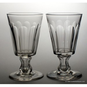 Pair Large Victorian Glass Rummers c1890