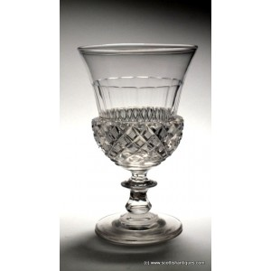 Richardson Thistle Shaped Glass Rummer c1870