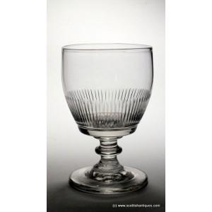 Georgian In-Curved Bowl Glass Rummer