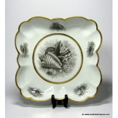 Worcester Scalloped Dessert Dish c1810