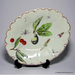 Botanical Derby Porcelain Dish c1760
