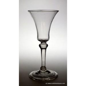 Georgian Balustroid Wine Glass c1740