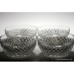 Four Richardsons Glass Finger Bowls c1880