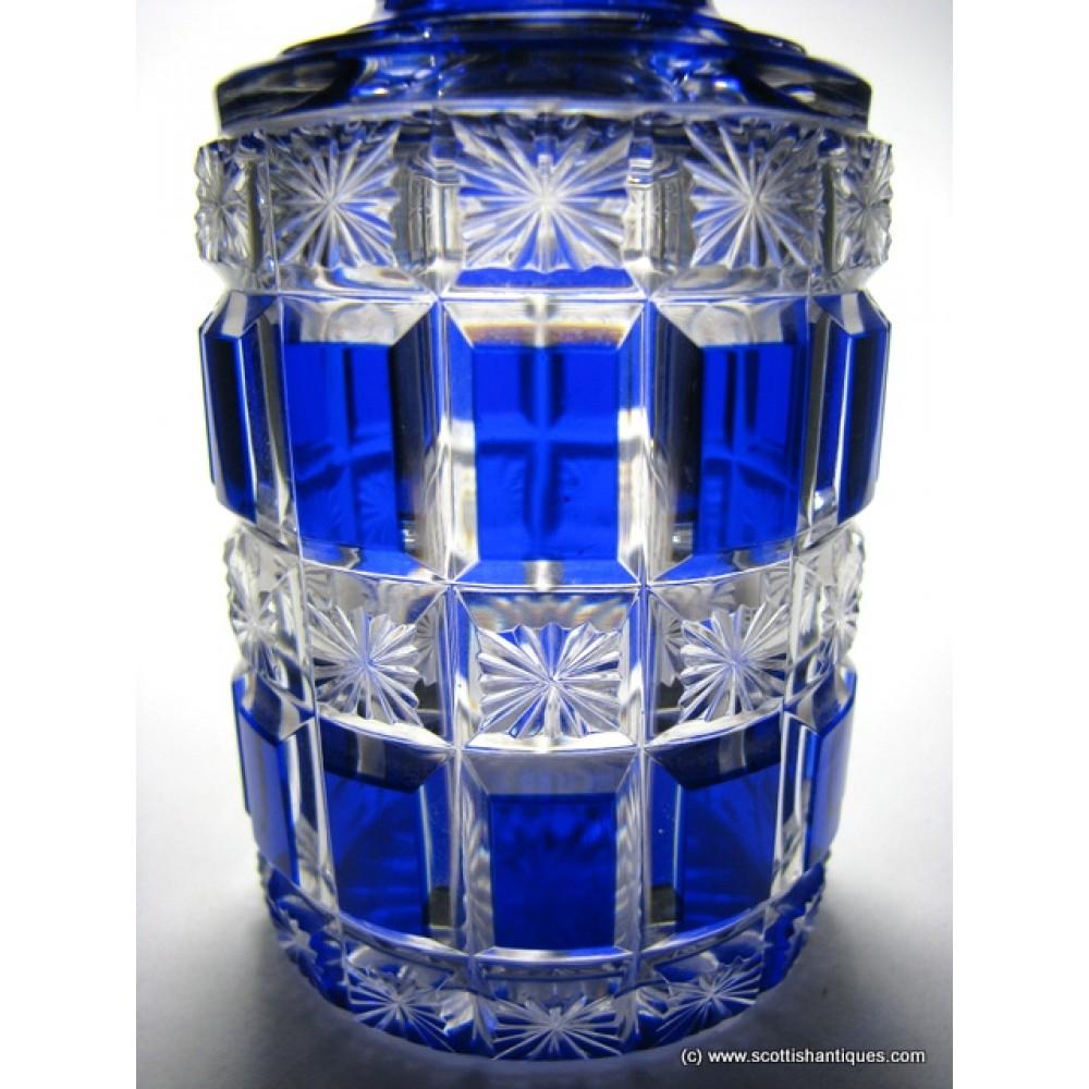 Sold Victorian Cobalt Blue Baccarat Perfume Bottle C1880