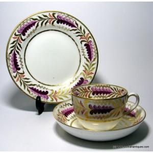 Spode Copeland Porcelain Teacup, Saucer and Tea Plate c1880