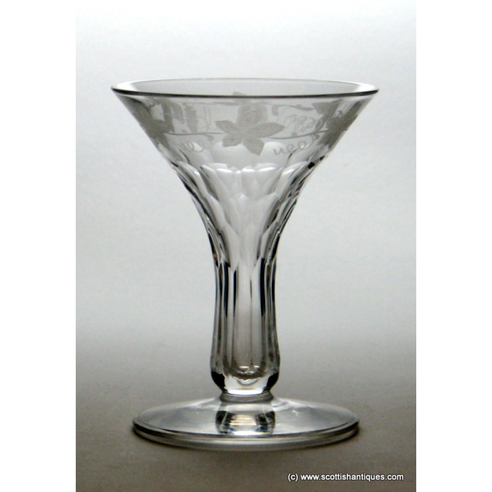 Sold engraved hollow stem champagne glass c1870 - Champagne flutes hollow stem ...