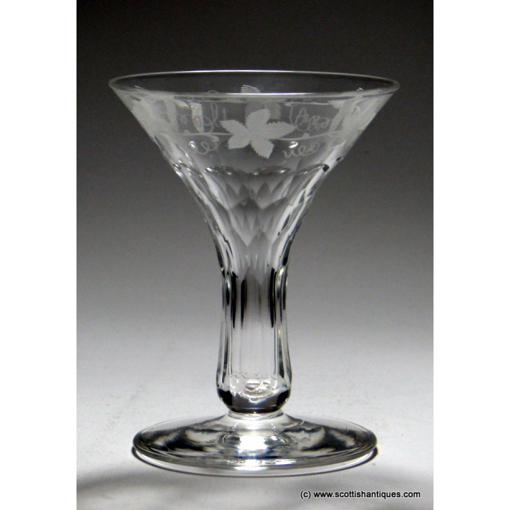 Sold engraved hollow stem champagne glass c1870 - Hollow stem champagne glasses ...