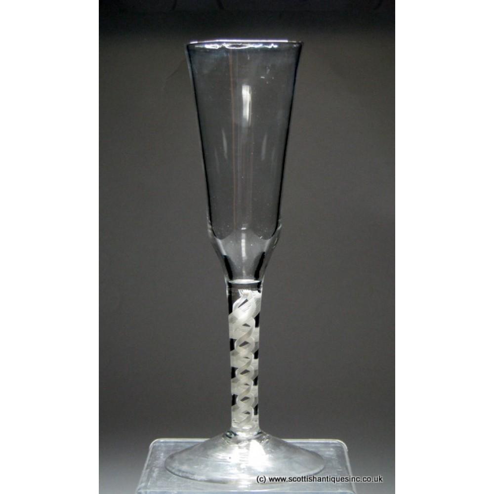Sold Tall Georgian Opaque Twist Ale Glass C1760