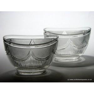 Pair Irish Glass Dessert Bowls c1820