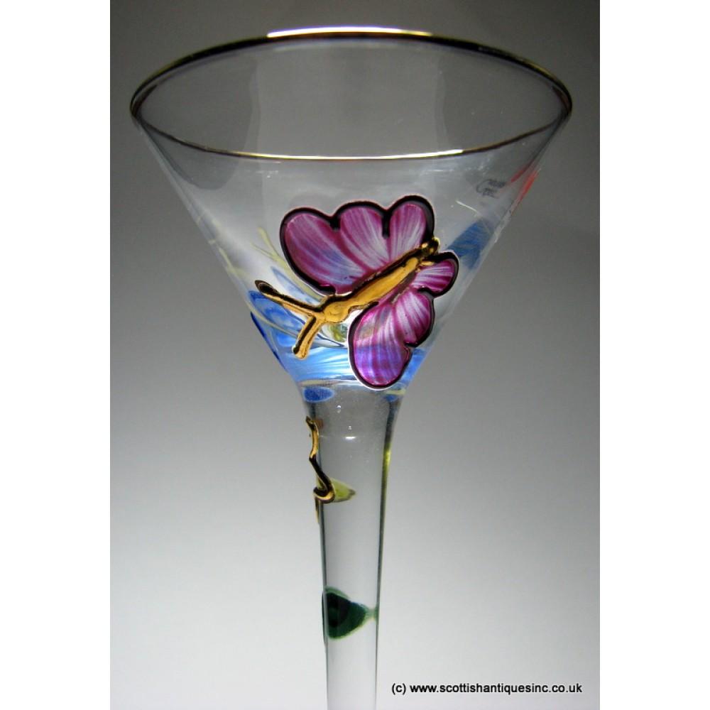 sold paul nagel enamelled exklusiv design cordial glass. Black Bedroom Furniture Sets. Home Design Ideas