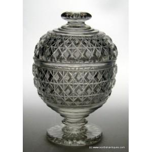 Early 19th Century Irish Lidded Glass Jar